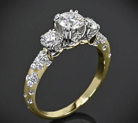 pierścionek z brylantem na zamówienie